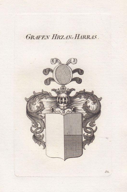 Hrzan von Harasov Böhmen Bohemia Wappen coat of arms Heraldik heraldry ca.1820