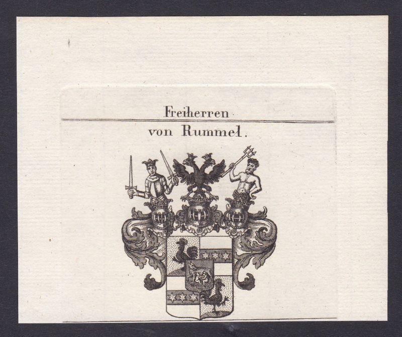 1820 Rummel Nürnberg Bayern Wappen Adel coat of arms Heraldik Kupferstich