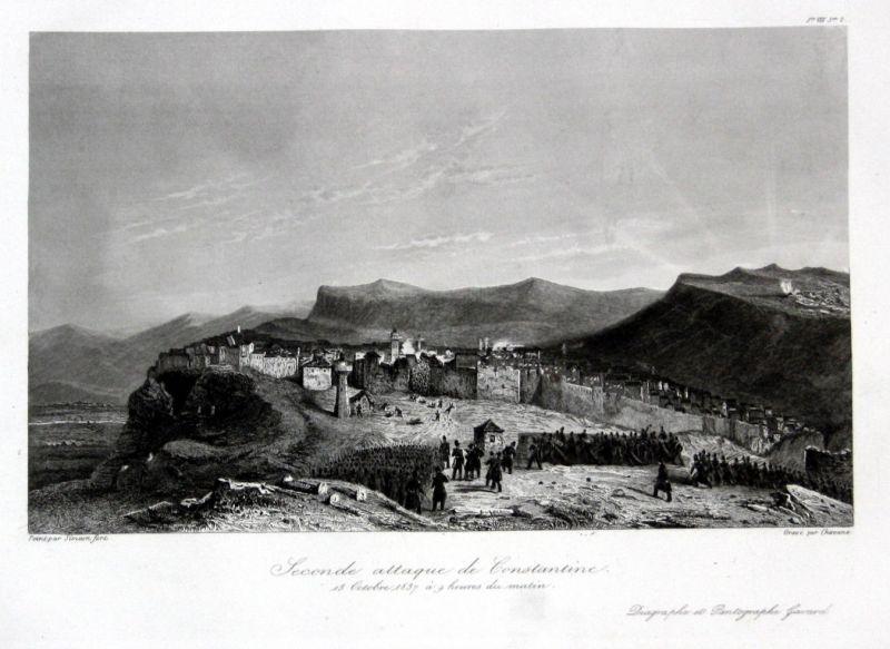 1840 Constantine Algeria Algerien Ansicht vue estampe Stahlstich antique  146846