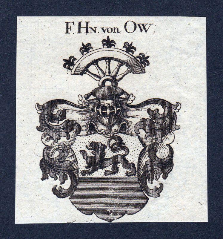 Ca. 1820 Ow Wappen Adel coat of arms Kupferstich antique print heraldry 143335