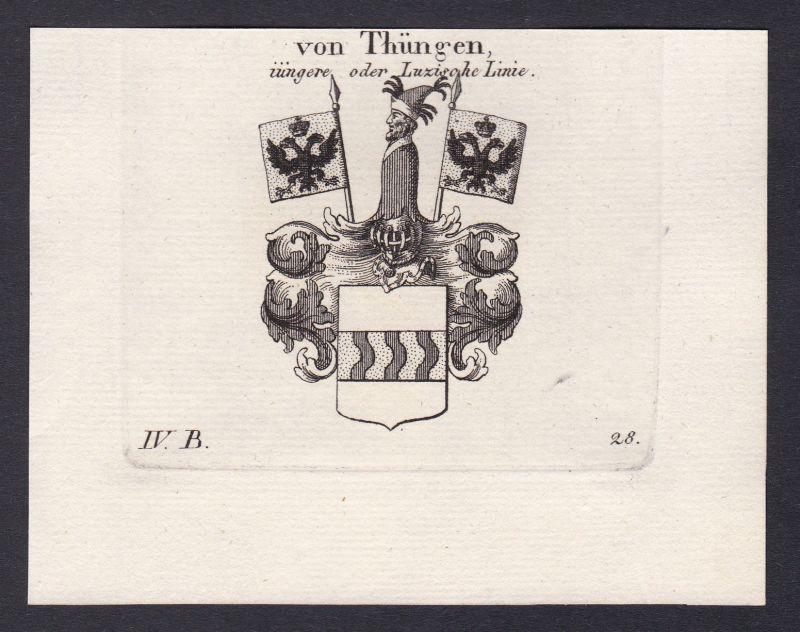 1820 Franken Thüngen Wappen Adel coat of arms heraldry Heraldik Kupferstich