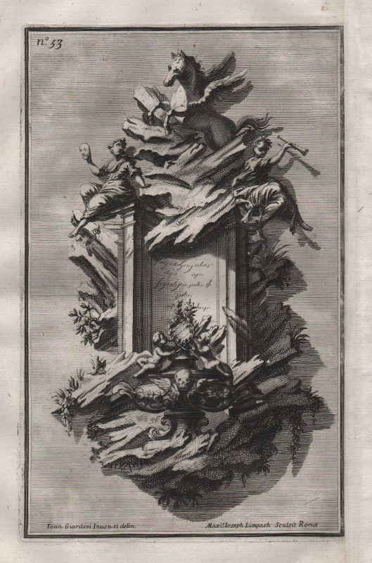 1720 Rahmen Silber frame silver silversmith design baroque etching Kupferstich