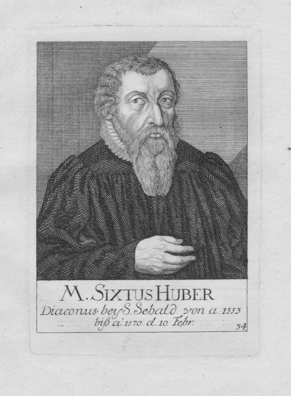 18. Jh. Sixtus Huber Diakon Theologe St. Sebald Sebalduskirche Nürnberg Portrait