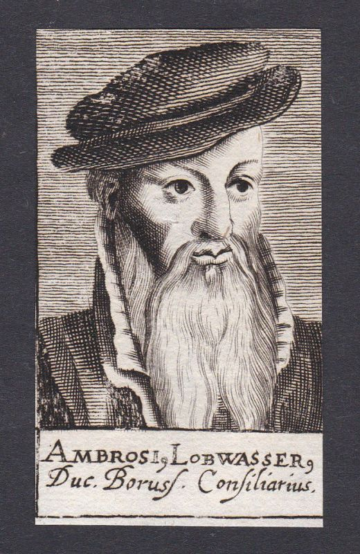 17. Jh. - Ambrosius Lobwasser / humanist Übersetzer Leipzig Portrait Kupferstich
