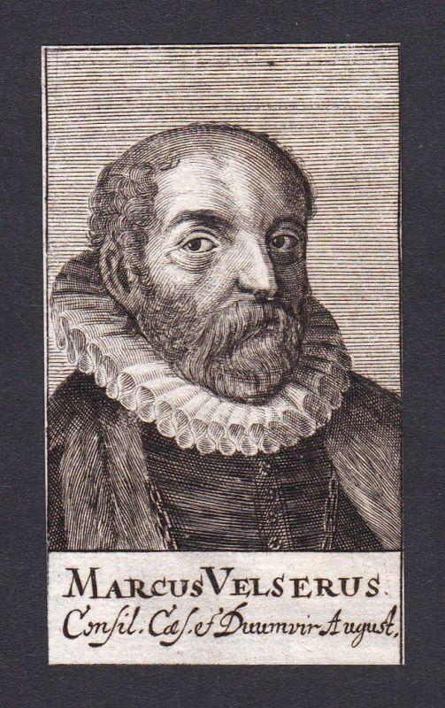 1680 Markus Welser / humanist Humanist Augsburg Portrait Kupferstich