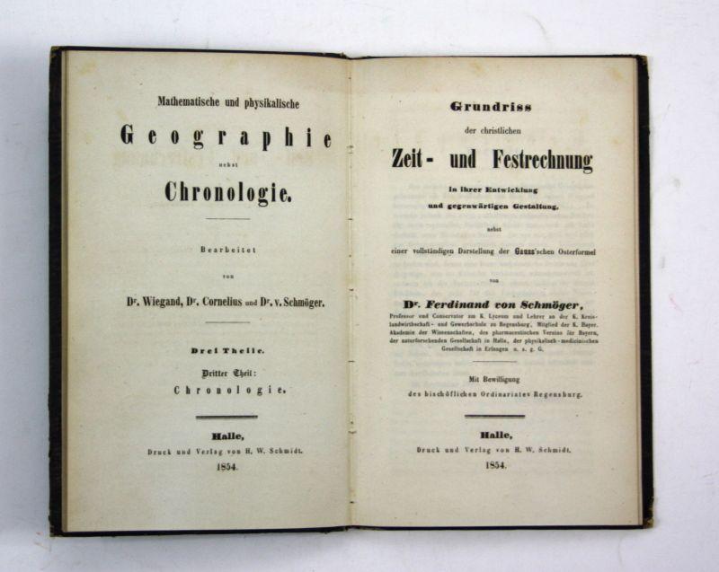 1854 Schmöger Grundriss der christlichen Zeit und Festrechnung Gauss Osterformel
