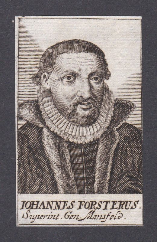 1680 Johann Forster / theologian Theologe Augsburg Portrait Kupferstich