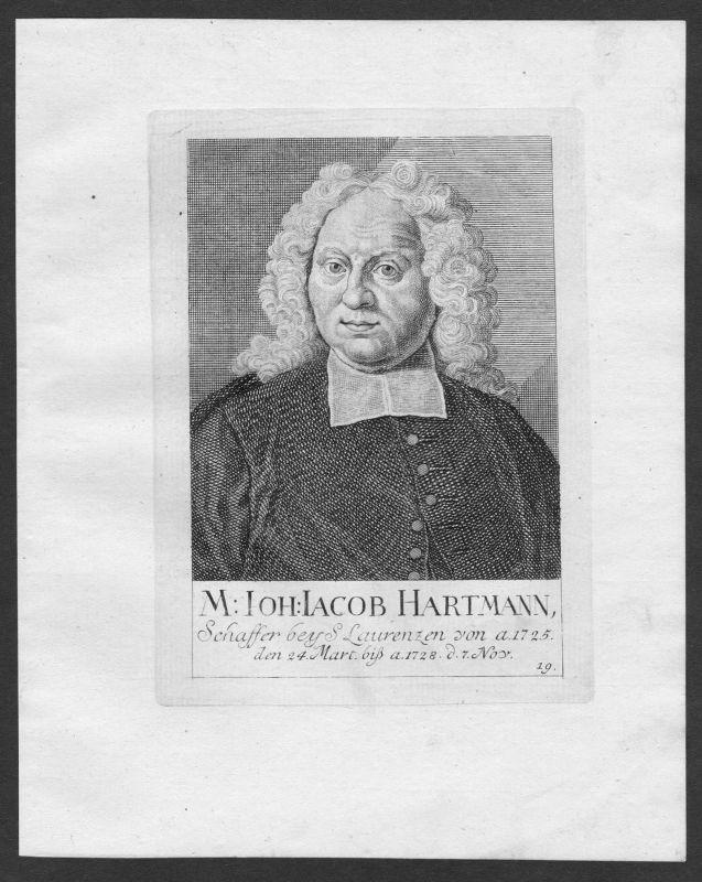 18. Jh. Johann Jakob Hartmann Theologe St. Lorenz Lorenzkirche Nürnberg Portrait