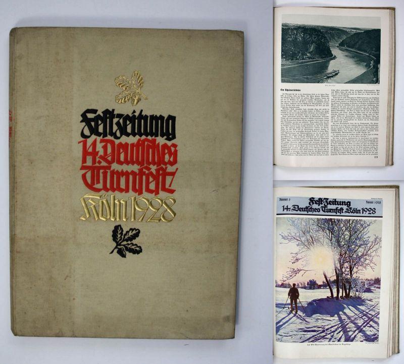 Festzeitung 13. Deutsche Turnfest Köln 1928 Sport Turnen Turnfest