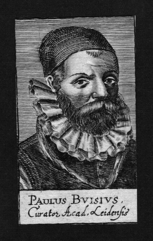 1680 - Paulus Buis Jurist lawyer Zwolle Leiden Holland Kupferstich Portrait