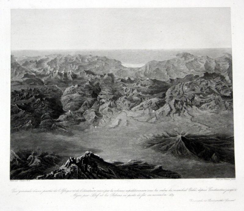 1840 Afrika Africa Constantine Algeria Ansicht estampe Stahlstich antique print
