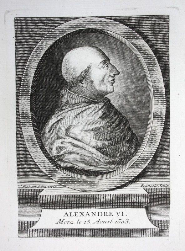 18. Jh. Alexander VI Bischof bishop eveque Cardinal Papst pope papiste Portrait