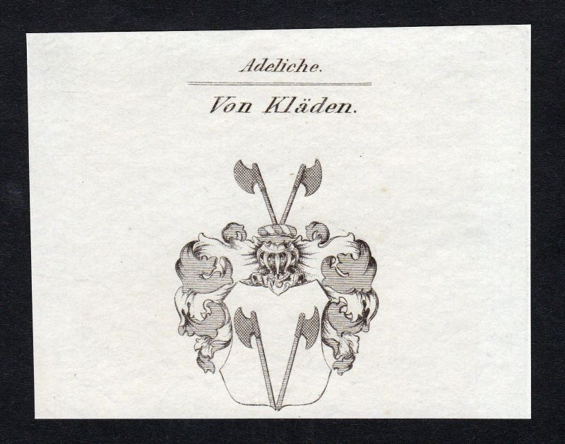 Kläden Bismark Sachsen-Anhalt Wappen Adel coat of arms Kupferstich engraving