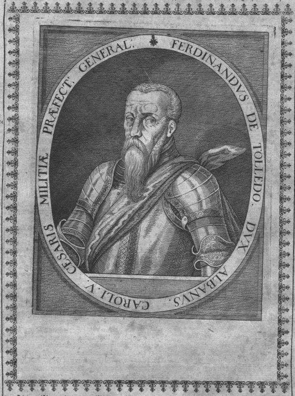 1640 - Fernando Alvarez de Toledo Alba Portrait Kupferstich engraving