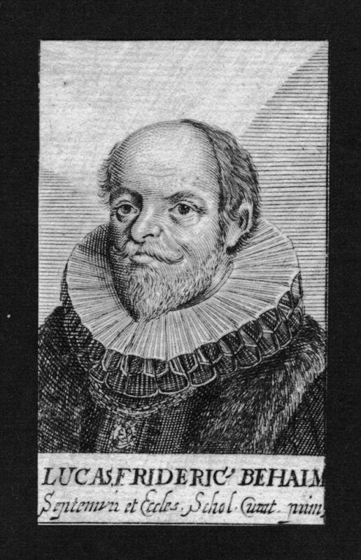 1680 - Lukas Friedrich Behaim Jurist lawyer Nürnberg Kupferstich Portrait