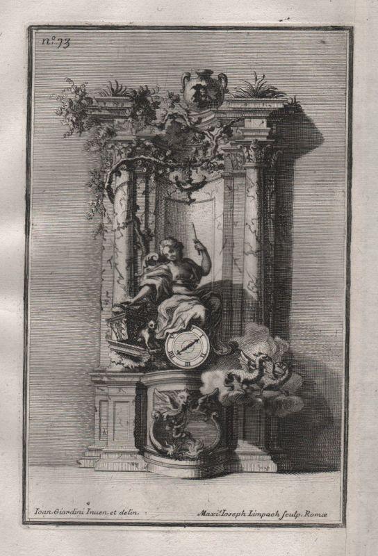 1720 Rahmen frame Säulen columns silver silversmith design baroque Kupferstich