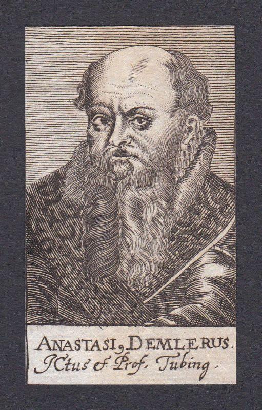 17. Jh. - Anastasius Demler / lawyer Jurist Tübingen Portrait Kupferstich
