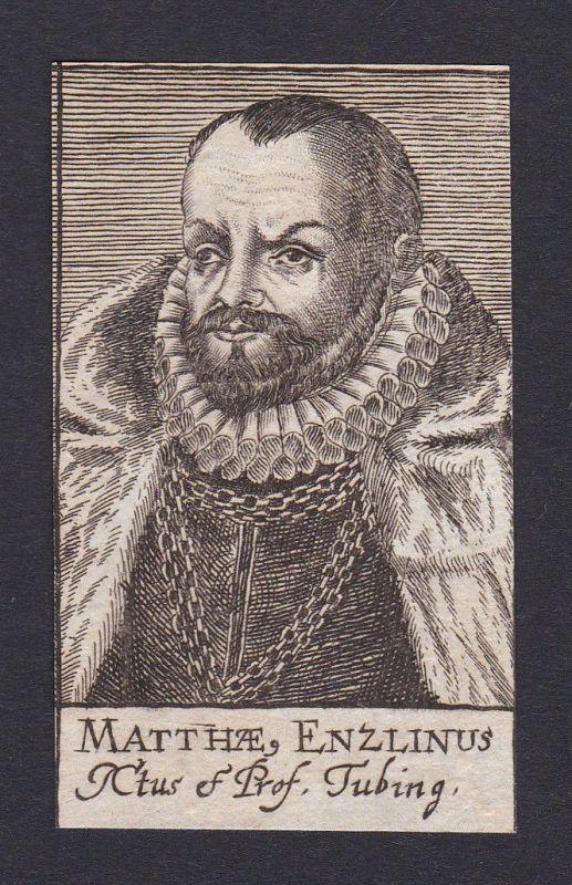 17. Jh. - Matthäus Enzlin / lawyer Jurist Tübingen Portrait Kupferstich