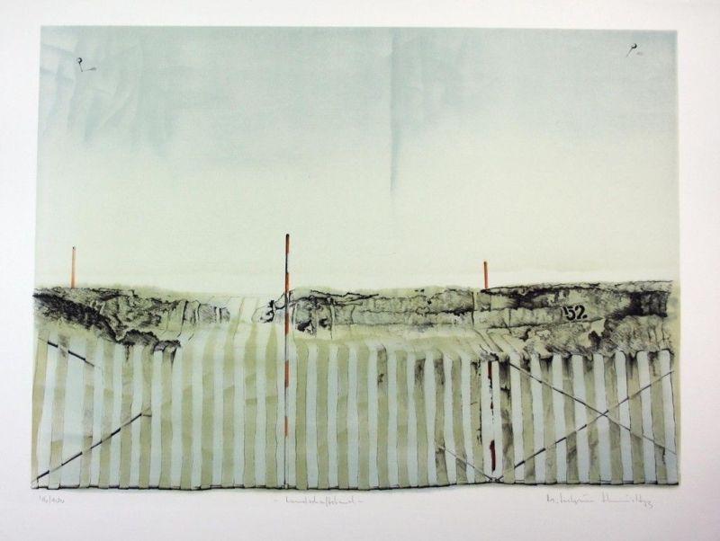 1973 - Michael Schmidt-Stein Bamberg Original Lithographie signiert 100 Expl.