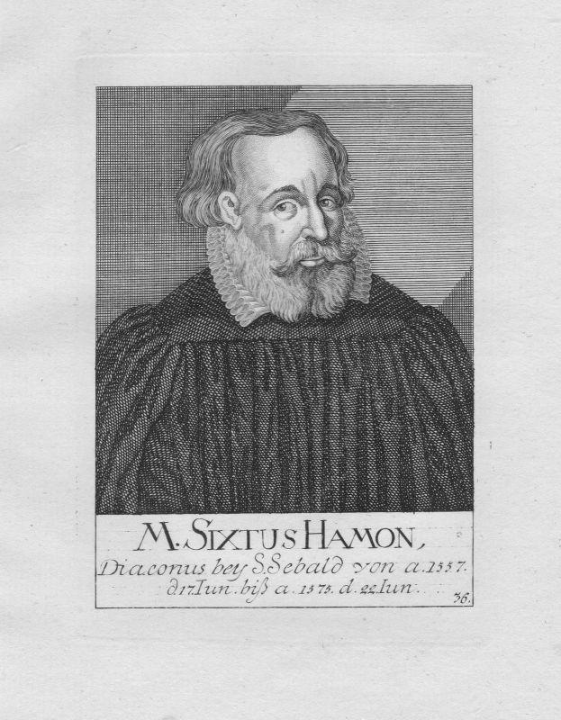 18. Jh. Sixtus Hamon Diakon Theologe St. Sebald Sebalduskirche Nürnberg Portrait