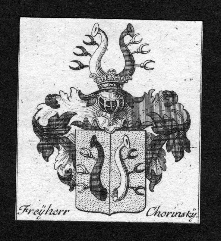 1750 - Chorinsky Chorynsky von Ledska Wappen Adel coat of arms heraldry Heraldik