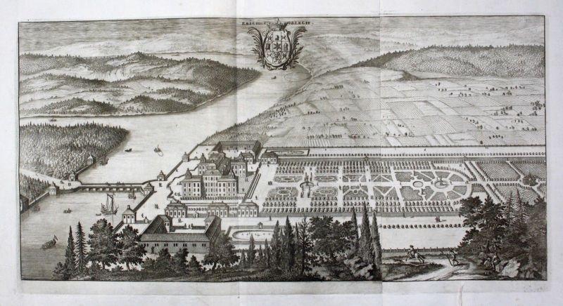 1710 - Ericsberg slott Katrineholm Södermanland Kupferstich Dahlberg engraving