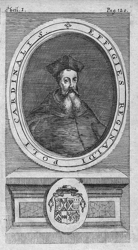 1720 - Reginald Pole Kardinal Cardinal Kupferstich Portrait engraving