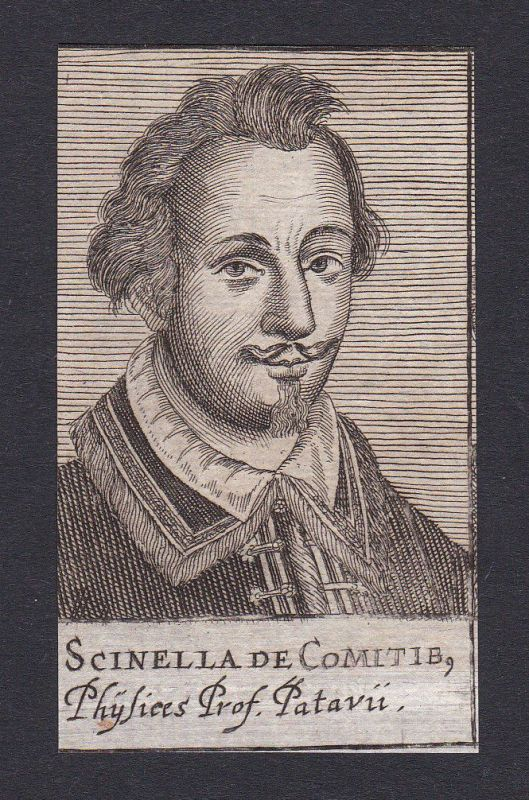 17. Jh. Schinella Conti / doctor Arzt Padua Portrait Kupferstich