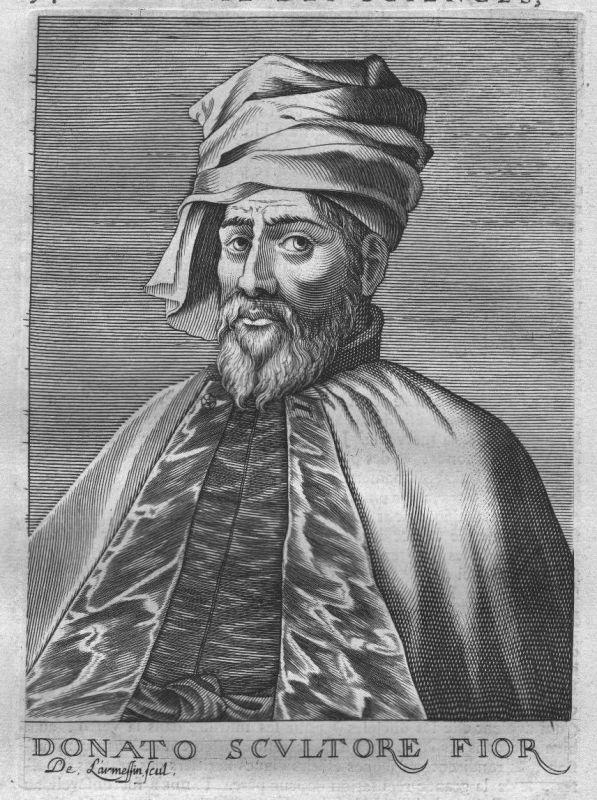 1695 - Donatello sculptor Firenze Portrait engraving acquaforte incisione stampa