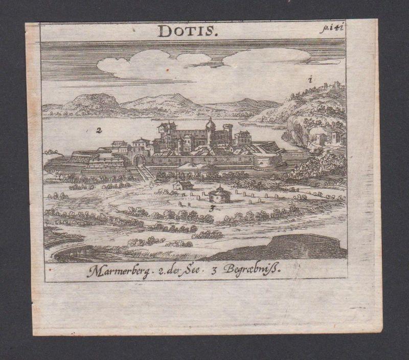 1686 - Tata Totis Ungarn Hungary Hongrie Kupferstich engraving Krekwitz