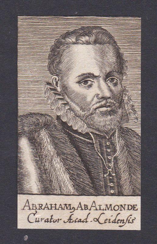 17. Jh. - Abraham van Almonde / lawyer Jurist Leiden Portrait Kupferstich