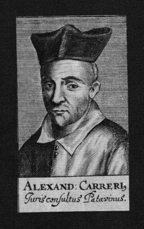 1680 - Alessandro Cariero Jurist lawyer Italien Italy Kupferstich Portrait