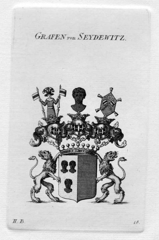 1820 Seydewitz Seidewitz Wappen Adel coat of arms heraldry Heraldik Kupferstich