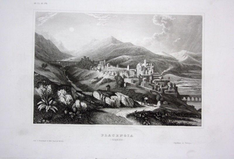 1840 - Placencia Ansicht view Belize Spanien Spain Espana gravure Stahlstich