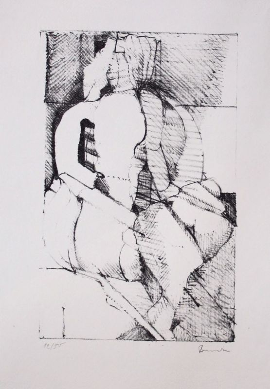 Dieter Benecke Original Lithographie signiert 50 Exemplare