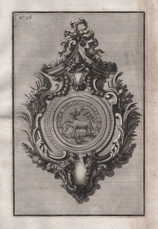 1720 Rahmen frame Silber silver design baroque silversmith etching Kupferstich