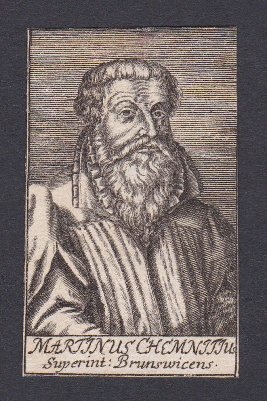 1680 Martin Chemnitz / theologian Theologe Braunschweig Portrait Kupferstich