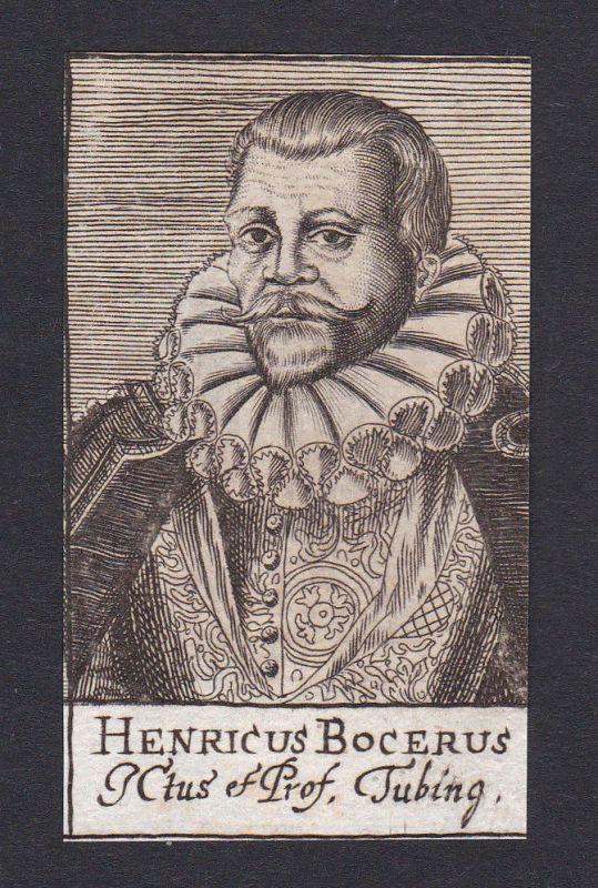 17. Jh. - Heinrich Bocer / lawyer Professor Tübingen Portrait Kupferstich
