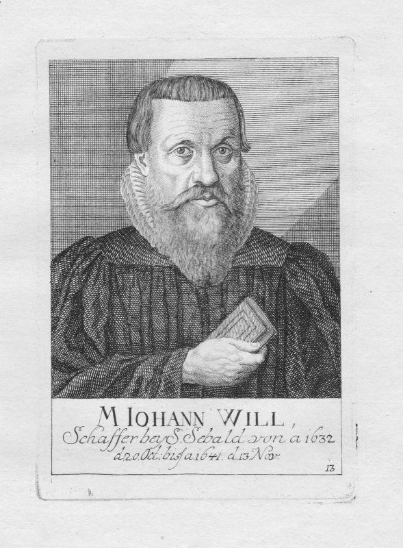 18. Jh. Johann Will Theologe St. Sebald Sebalduskirche Nürnberg Portrait