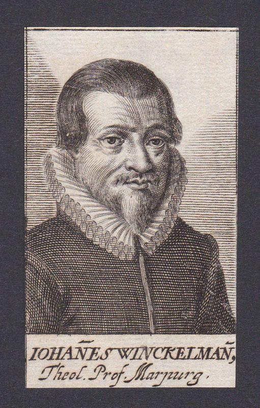 1680 Johannes Winckelmann / lawyer Jurist Marburg Portrait Kupferstich