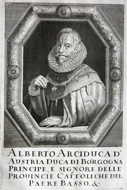 1670 Albert VII. von Habsburg Bischof bishop Österreich Austria Kupferstich