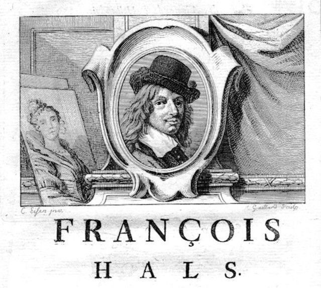 1750 - Frans Hals painter Maler Portrait Kupferstich gravure engraving
