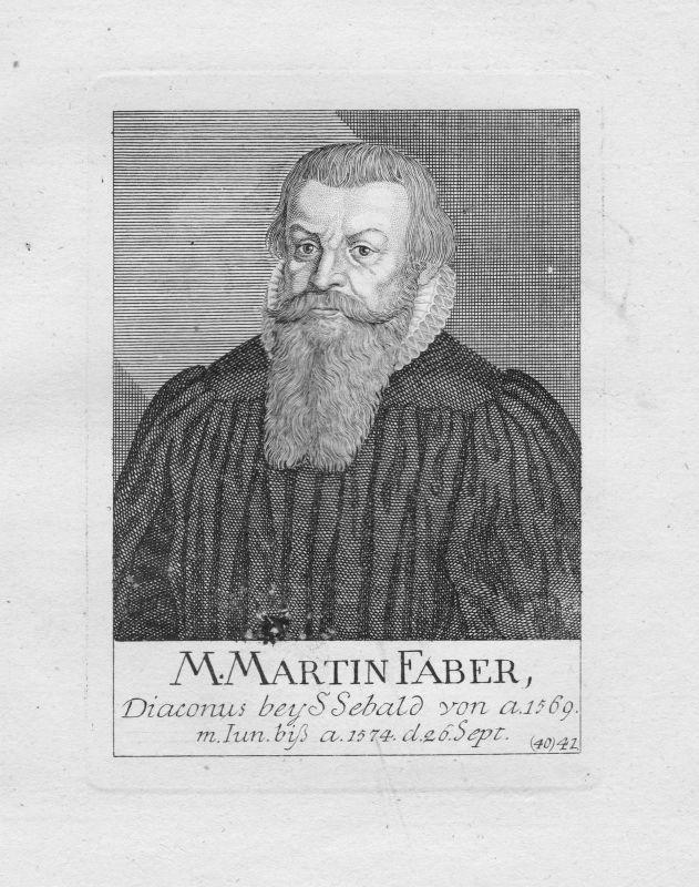 18. Jh. Martin Faber Diakon Theologe St. Sebald Sebalduskirche Nürnberg Portrait