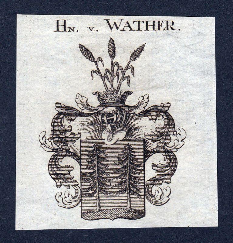 1820 Walther Walter Wappen Adel coat of arms Heraldik Kupferstich engraving