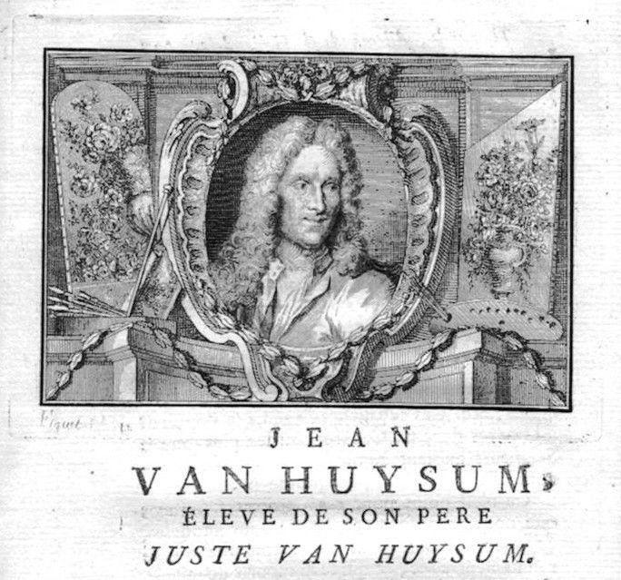 1750 - Jan van Huysum painter Maler Portrait Kupferstich gravure engraving
