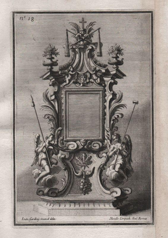 Angel Engel Rahmen frame Silber silver design baroque silversmith Kupferstich