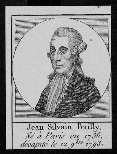 1795 - Jean-Sylvain Bailly Astronom Frankreich France Kupferstich Portrait