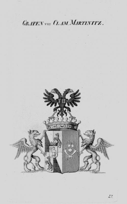 1820 - Clam Martinitz Wappen Adel coat of arms heraldry Heraldik Kupferst 104520