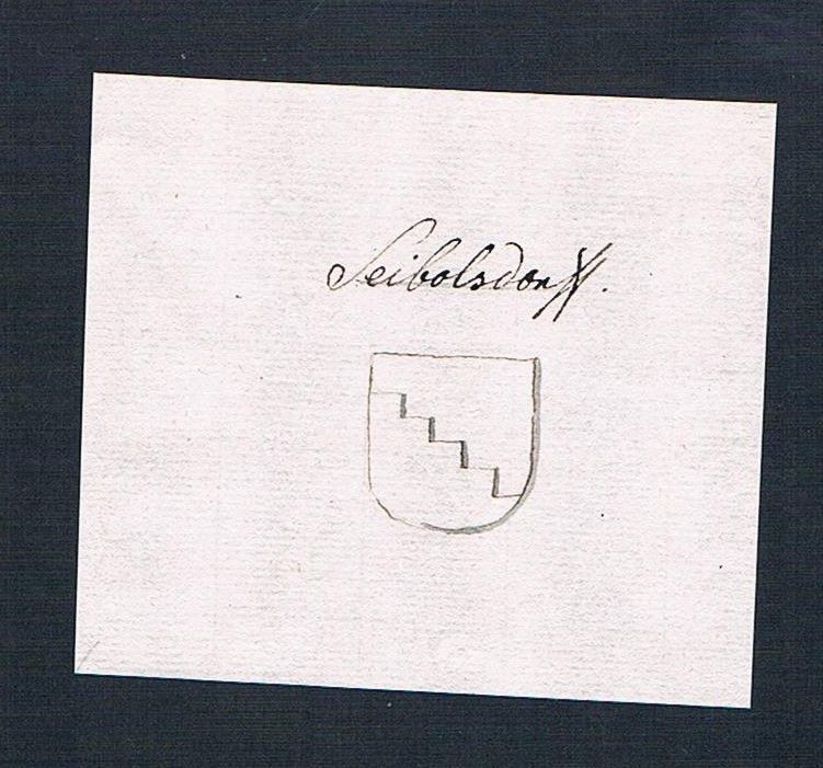 18. Jh. Seibersdorf Handschrift Manuskript Wappen manuscript coat of arms