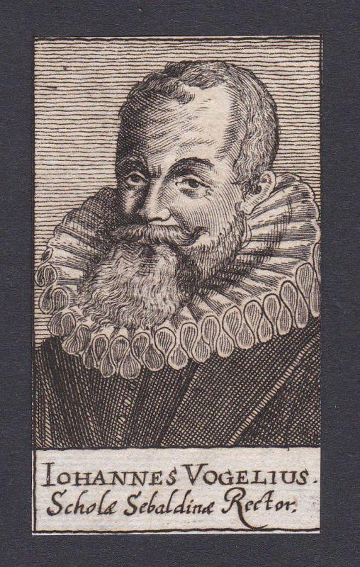Johannes Vogel / theologian Theologe Nürnberg Portrait Kupferstich